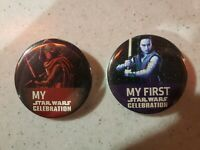 Star Wars Celebration 2019 Exclusive Rey And Kylo Buttons