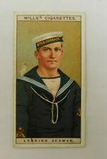 Cigarette Tobacco Card Wills Naval Dress & Badges 1909 # 8 Leading Seaman RAN RN