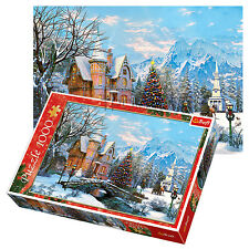 Trefl 1000 Piece Adult Large Winter Landscape Christmas House Snow Jigsaw Puzzle