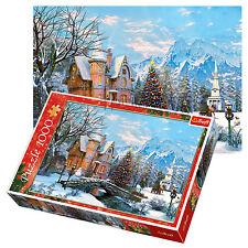 Trefl 1000 Piezas Adulto Grande Casa de Navidad paisaje invernal nieve Rompecabezas