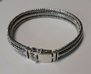 Armband 11mm 18cm 38 Gramm Silber 925er massiv Celtic Herren Unisex dreigliedrig