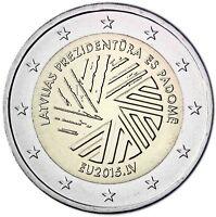 Lettland 2 Euro EU Ratspräsidentschaft 2015 bankfrische Gedenkmünze
