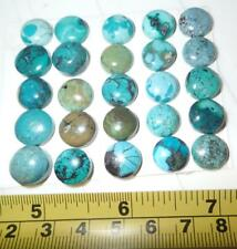 Turquoise Stone Round 12x12 mm Flat Cabochon 133 Carat 25 pieces