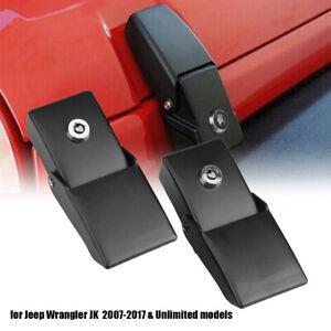 New Hood Anti-theft Lock Catch  Set For Jeep Wrangler JK 2007-2017