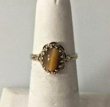 YELLOW GOLD TIGERS EYE RING SIZE 6.25