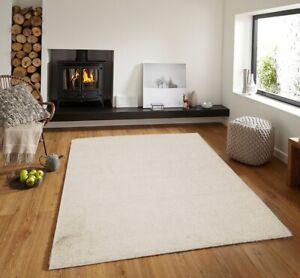 Modern Area Rug Everyday Shaggy Carpet Floor Rug Flooring Rug, Cream 5x7