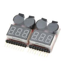 4Pcs 1-8S Indicator RC Li-ion Lipo Battery Tester Low Voltage Buzzer Alarm L4J0