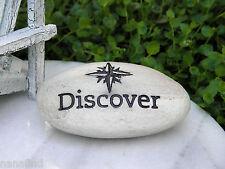 Miniature Fairy Garden Accessories ~ Beach Sea Discover Sentiment Stone Sign