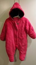 Juicy Couture Baby Girl Hooded Winter Bunting Snow Suit 3-6 Months Fuchsia Pink