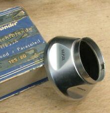 Voigtlander Vitessa 34.5mm push fit chrome  lens hood used slip on shade 125/20