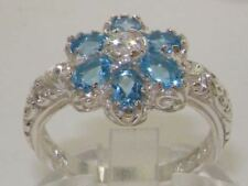 Topaz Anniversary White Gold Fine Gemstone Rings