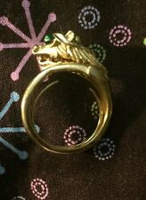 RARE BY ANDRE BOEUF SIGNED CROWN TRIFARI DRAGON RING SOMETHING WILD COLLECTION