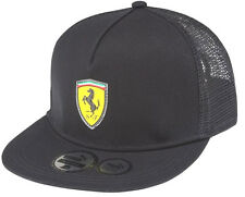 AUTHENTIC PUMA SCUDERIA FERRARI 2014 KIDS BLACK FLAT BRIM SCUDETTO MESH CAP