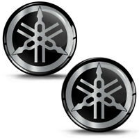 2 x 3D Yamaha Silber Silicone Aufkleber Stickers Emblem Auto Moto Tuning KS139