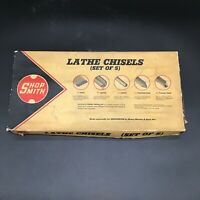 Vintage Shop Smith Wood Lathe Chisel Tool Set Made by Henry Disston Original Box
