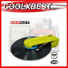 NEW CROSLEY REVOLUTION PORTABLE TURNTABLE DIGITAL RECORD USB or BATTERY POWER