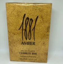1881 Amber By Cerruti  For Men  Eau De Toilette Spray 3.3 FL OZ 100 ML  * RARE *