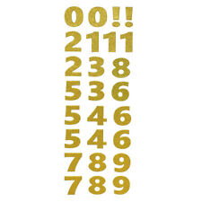 Big Glitter Number Stickers, Gold, 2-Inch, 26-Piece