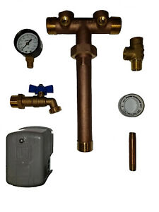 """Pressure Tank Tee Union, 1""""x11"""" For Water Well, LF Brass, You Pick the Square D"""