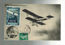1910 Ruinart France Early airmail Postcard cover Local Issue Air Stamp Aviation