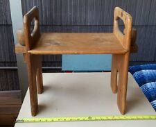 Child Doll Bench Wood Handmade Crafted Collapsible Vintage Spindle Shabby Chic