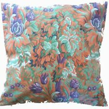 "Cushion Cover vintage orange floral Cotton Home Sofa pillow envelope back 16"""
