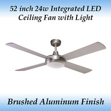 Fias Rotor 52 inch LED Ceiling Fan with Light in Brushed Aluminium