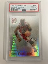 1995 Stadium Club Michael Jordan Warp Speed #WS1 PSA 8