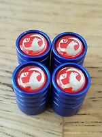 VAUXHALL NEW BADGE RED TOP BLUE DELUXE car Valve Alloy wheel dust Caps ASTRA GTC