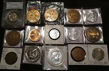 TOKEN MEDAL JUNK DRAWER LOT COLLECTION COIN NYSE BICENTENNIAL MINT FUN SHOW