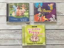 KIDS SONGS CD BUNDLE IN THE NIGHT GARDEN THIS LITTLE PIG & THE DISNEY EXPERIENCE