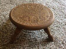 Antique Carved Childs Nursery Rhyme Alphabet Timeout Bathroom Step Stool