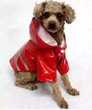 Hundemantel Regenmantel Hundebekleidung Hundejacke Chihuahua M Yorky Rot NEU