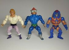 Vintage motu he man master universe action figures or parts lot of 3 80's toys