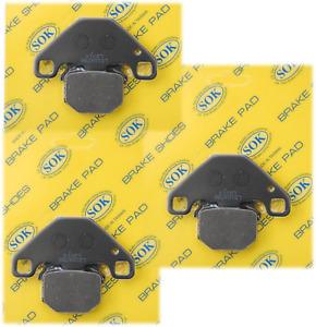 FRONT&REAR BRAKE PADS fit CAN-AM DS 90X  2008-2015 DS90X (D310 x3