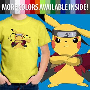 Toddler Kid Boy Tee Youth T-Shirt Print Gift Naruto Uzumaki Sage Mode Ninja Pika