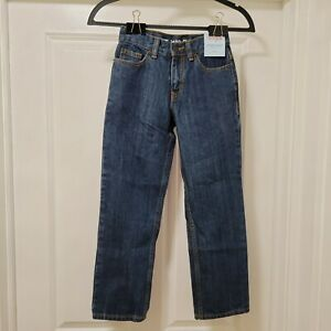 Cat & Jack BOYS Size 8 Slim Relaxed Straight Fit Blue Jeans w/ Adjustable Waist