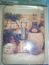 Amerelle Collection Vino Cheese and Grapes Deco Single Switch Wall Plate New