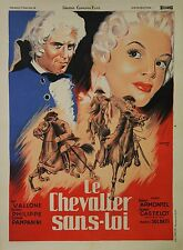 """LE CHEVALIER SANS-LOI"" Affiche originale entoilée (Mario SOLDATI / Raf VALLONE)"