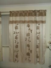 Catherine Lansfield Faux Silk Pencil Pleat Curtains