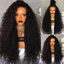 """24"""" Long Black Heavy Density Loose Curly Natural Women Hair Wig Lace Front Wigs"""