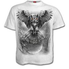 SPIRAL DIRECT ALI DI WISDOM T-Shirt bianca,Halloween Tattoo/Gufo/Darkwear/Maglia