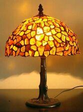 BERNSTEINLAMPE TISCHLAMPE TIFFANY - BERNSTEIN LAMPE - 25 cm