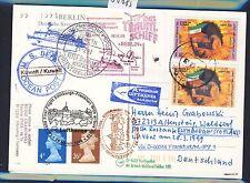58885) LH FF Frankfurt - Edinburgh GB 28.3.99, Karte SP ab Kuwait National Day