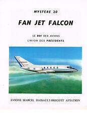 PUBLICITE  1977   FAN JET FALCON  l'avion des PRESIDENTS