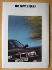 BMW 3 SERIES SALOONS orig 1991 UK Mkt Prestige Sales Brochure Prospekt - E36