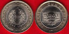 "Turkey 1 lira 2012 ""10th Int. Turkish Language Olympics"" BiMetallic UNC"