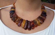 Genuine Baltic Amber Cloepatra Choker Necklace for Woman Caramel/Citrine