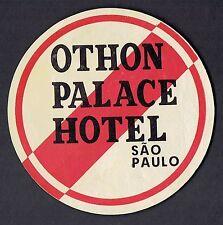 Othon Palace Hotel Sao Paulo Brazil ~ Vintage Hotel Luggage Label