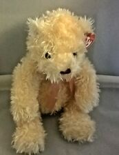 "TY CLASSIC ""FLECKS"" The Teddy Bear -Cream color Bear w bow -RETIRED- NWT"